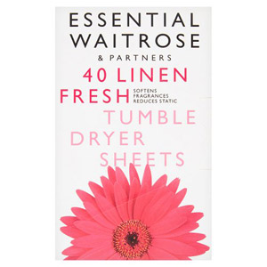 essential Waitrose Tumble Dryer Sheets Fresh 40s