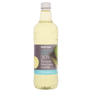 Waitrose Cordial 30% Mexican Lime Juice