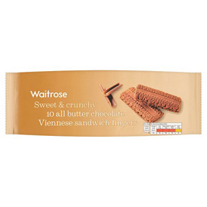 Waitrose Viennese Fingers Chocolate