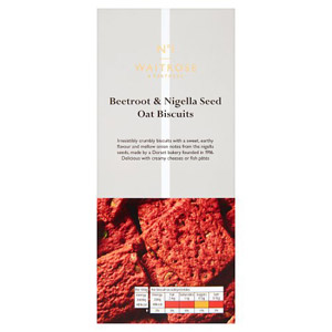 Waitrose & Partners No.1 Beetroot & Nigella Seed Oat Biscuits