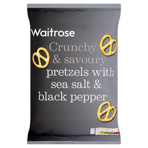 Waitrose Pretzels Sea Salt & Cracked Pepper