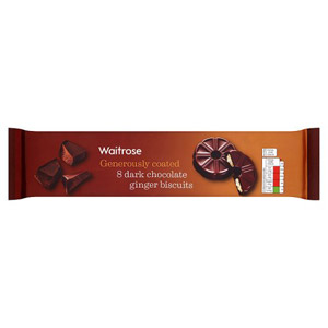 Waitrose Dark Chocolate & Ginger Biscuits 8 Pack