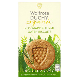 Waitrose Duchy Organic Rosemary & Thyme Biscuits