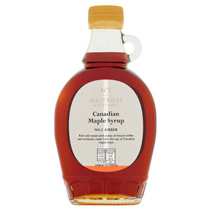 Waitrose Canadian Maple Syrup No 2 Amber