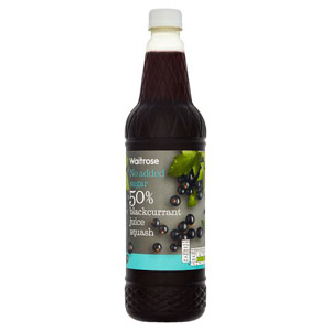 essential Waitrose No Added Sugar 50% Blackcurrant Juice