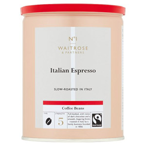 Waitrose Coffee Beans Roasted Espresso