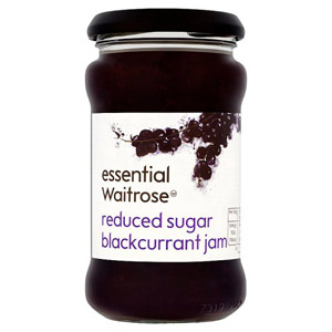essential Waitrose Reduced Sugar Blackcurrant Jam