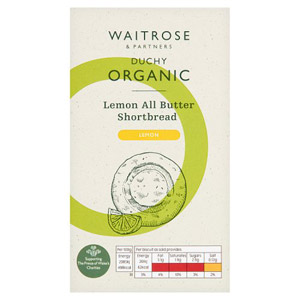 Waitrose Duchy Organic Shortbread Lemon