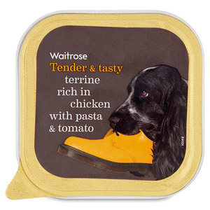 Waitrose Dog Food Terrine with Chicken Pasta and Tomato