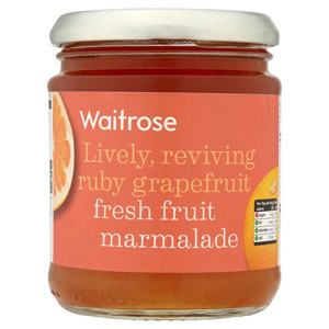 Waitrose Marmalade Fresh Fruit Grapefruit