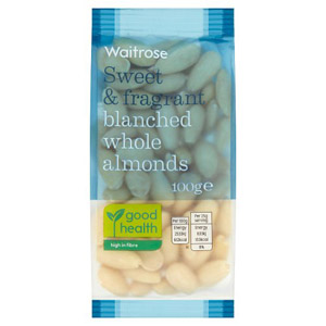 Waitrose Whole Blanched Almonds