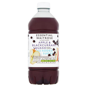essential Waitrose No Added Double Strength Sugar Apple & Blackcurrant