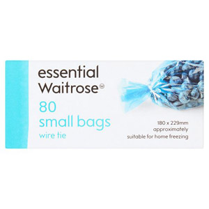essential Waitrose Small Frozen Food Bags 80s