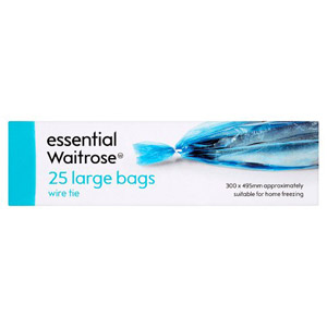 essential Waitrose Large Frozen Food Bags 25s
