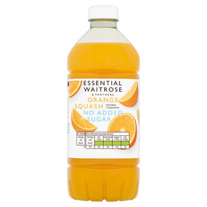 essential Waitrose No Added Sugar Orange Squash