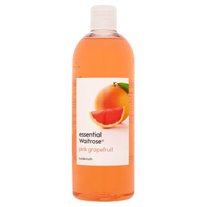essential Waitrose Bubble Bath Pink Grapefruit