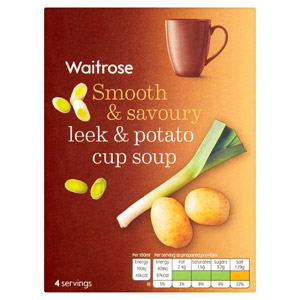 Waitrose Cup Soup Potato & Leek 4 Pack