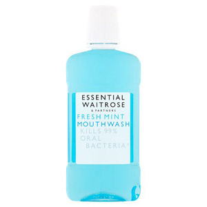 essential Waitrose Fresh Mint Mouthwash