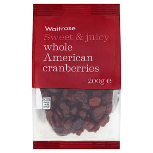 Waitrose Whole American Cranberries