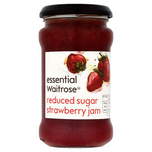 essential Waitrose Jam Reduced Sugar Strawberry
