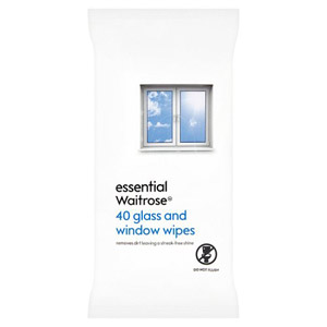 essential Waitrose Glass & Window Wipes