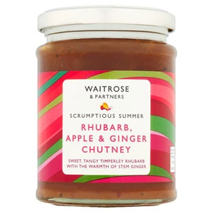 Waitrose Rhubarb Apple & Ginger Chutney