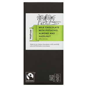 Waitrose 1 Pistachio Milk Chocolate Bar