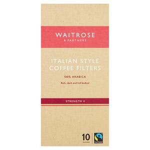 Waitrose 10 Coffee Filters Italian
