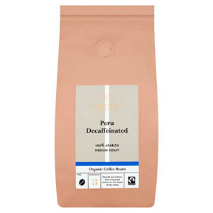 Waitrose Organic Coffee Beans Decaff Peru