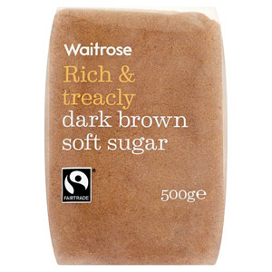 Waitrose Sugar Dark Brown Soft