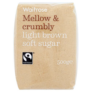 Waitrose Sugar Light Brown Soft