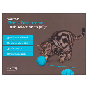 Waitrose Cat Food Fish Selection in Jelly 12 Pack