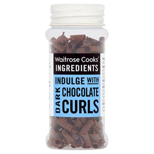 Waitrose Cooks Ingredients Dark Chocolate Curls