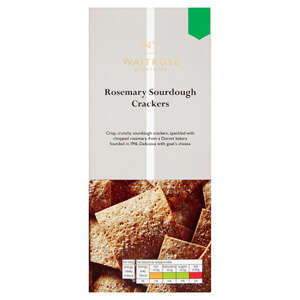 Waitrose & Partners No.1 Rosemary Sourdough Crackers