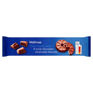 Waitrose Milk Chocolate Shortcake Biscuits