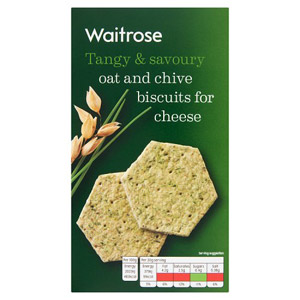 Waitrose Oat & Chive Biscuits For Cheese