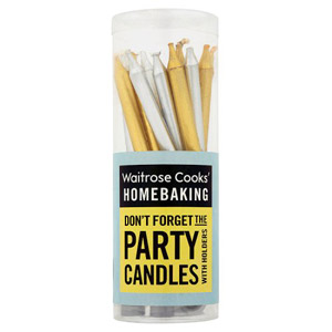 Waitrose Cooks Ingredients Gold & Silver Candles & Holders 16 Pack