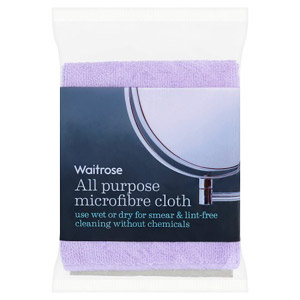 Waitrose All Purpose Microfibre Cloth