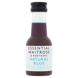 essential Waitrose Natural Blue Food Colour