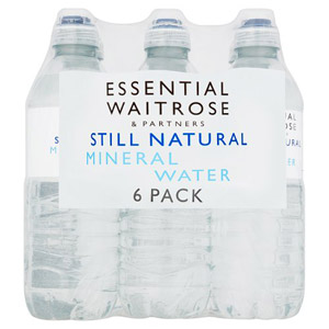 essential Waitrose Natural Mineral Water Still Sportcap 6 Pack