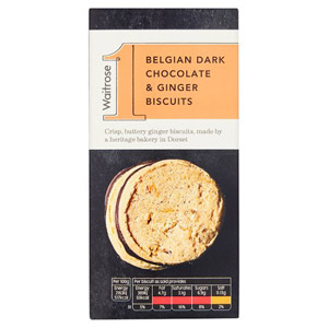 Waitrose 1 Chocolate & Ginger Biscuits