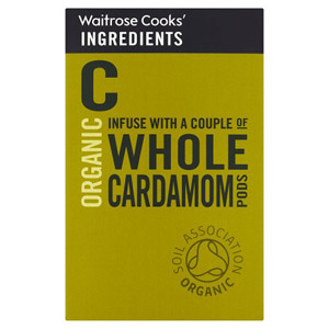 Waitrose Cooks Ingredients Organic Whole Cardamom