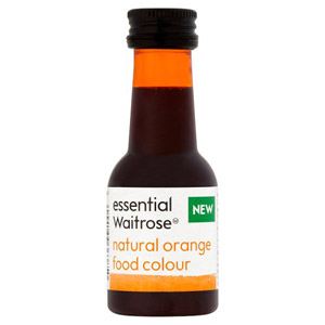essential Waitrose Natural Orange Food Colouring