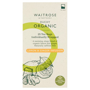 Waitrose Duchy Organic Lemon & Ginger Tea 25s