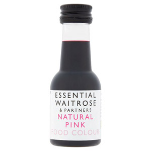 essential Waitrose Natural Pink Food Colour