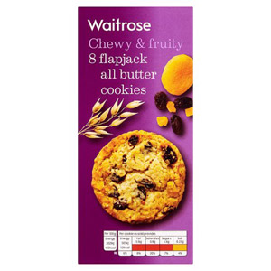 Waitrose Flapjack All Butter Cookies 8 Pack