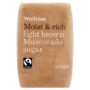 Waitrose Sugar Light Brown Muscovado