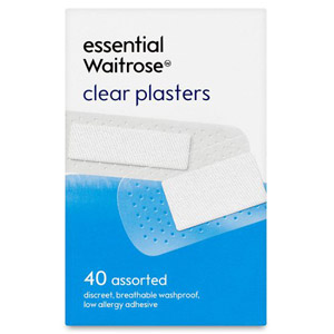 essential Waitrose Clear Plasters 40 Pack