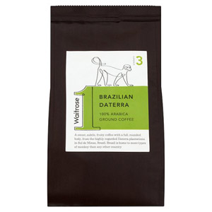 Waitrose Ground Coffee Brazillian Daterra Roast & Ground