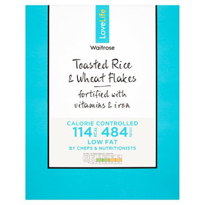 Waitrose LOVE life You Count Toasted Rice & Wheat Flakes